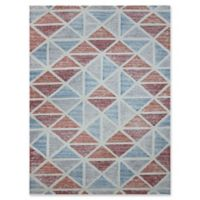 Amer Rugs Vector Modern Hand-Tufted 7'6 x 9'6 Rug in Blue/Orange