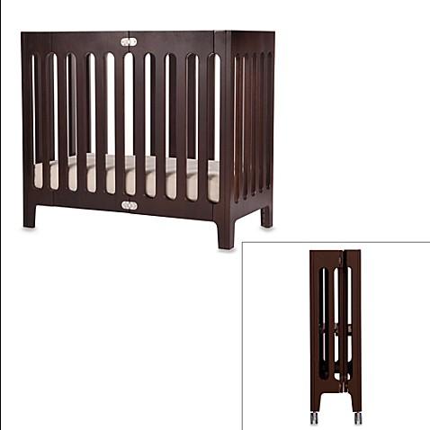 Bloom® Baby Alma™ Urban Folding Cot/Mini Crib In Cappuccino