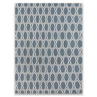 Amer Rugs Zara Trellis Flat-Weave 3' x 5' Rug in Blue