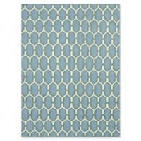 Amer Rugs Zara Trellis Flat-Weave 3' x 5' Rug in Teal