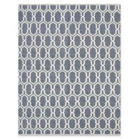 Amer Rugs Zara Trellis Flat-Weave 5' x 8' Rug in Grey