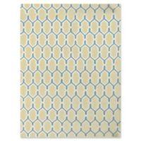 Amer Rugs Zara Trellis Flat-Weave 5' x 8' Rug in Yellow