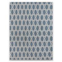 Amer Rugs Zara Trellis Flat-Weave 5' x 8' Rug in Teal