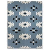 Amer Rugs Southwestern Flat-Weave 2' x 3' Rug in Blue