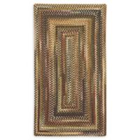 Capel Rugs Eaton Braided 2'3 x 4' Accent Rug in Burgundy