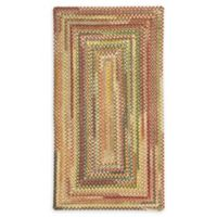 Capel Rugs Eaton Braided 2'3 x 4' Accent Rug in Yellow