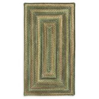 Capel Rugs Eaton Braided 2'3 x 4' Accent Rug in Green