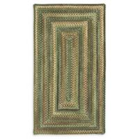 Capel Rugs Eaton Braided 3' x 5' Area Rug in Green