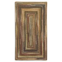 Capel Rugs Eaton Braided 4' x 6' Area Rug in Burgundy