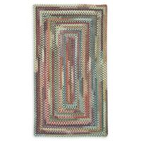 Capel Rugs Eaton Braided 4' x 6' Area Rug in Blue