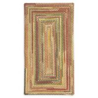 Capel Rugs Eaton Braided 4' x 6' Area Rug in Yellow