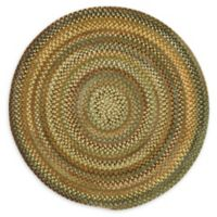 Capel Rugs Eaton Braided 5'6 Round Rug in Green