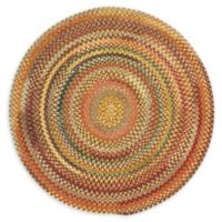 Capel Rugs Eaton Braided 5'6 Round Rug in Yellow