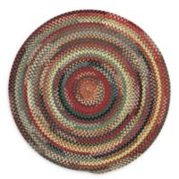 Capel Rugs Eaton Braided 5'6 Round Rug in Blue