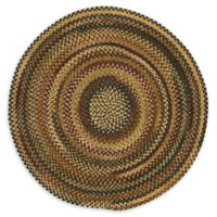 Capel Rugs Eaton Braided 5'6 Round Rug in Burgundy