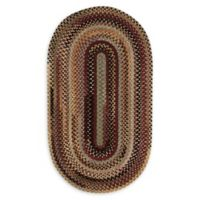 Capel Rugs Eaton Oval Braided 1'8 x 2'6 Accent Rug in Burgundy