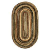 Capel Rugs Eaton Oval Braided 1'8 x 2'6 Accent Rug in Green