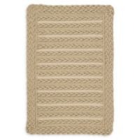 Capel Rugs Boathouse 4'x 6' Indoor/Outdoor Area Rug in Dark Beige