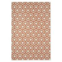 Capel Rugs Elsinore-Honeycombs 3'11 x 5'6 Area Rug in Cinnamon