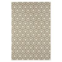 Capel Rugs Elsinore-Honeycombs 3'11 x 5'6 Area Rug in Beige