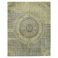 Capel Rugs Classic-Bastille Hand Knotted 5' x 8' Area Rug in Chestnut Green
