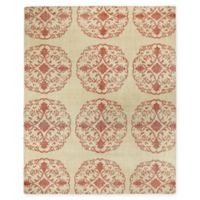 Capel Rugs Classic-Mandala Hand Knotted 5' x 8' Area Rug in Cardinal Red