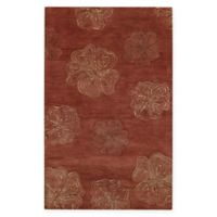 Capel Rugs Desert Plateau-Hibiscus 5' x 8' Area Rug in Red