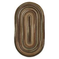"Capel Rugs Bangor 20"" x 30"" Braided Oval Area Rug in Sage"
