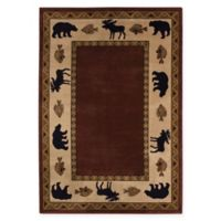 Capel Rugs Cottage Grove 5'3 x 7'6 Area Rug in Red
