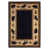 Capel Rugs Cottage Grove 5'3 x 7'6 Area Rug in Ebony
