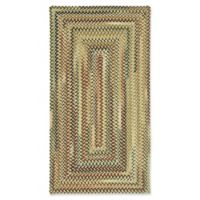 Capel Rugs Bangor Concentric Braided 2'3 x 4' Accent Rug in Amber
