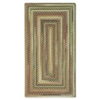 Capel Rugs Bangor Concentric Braided 2'3 x 4' Accent Rug in Brown/Beige