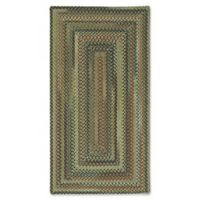 Capel Rugs Bangor Concentric Braided 3' x 5' Area Rug in Sage