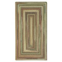 Capel Rugs Bangor Concentric Braided 3' x 5' Area Rug in Brown/Beige