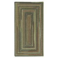 Capel Rugs Bangor Concentric Braided 4' x 6' Area Rug in Sage