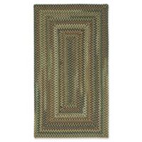 Capel Rugs Bangor Concentric Braided 5' x 8' Area Rug in Charcoal
