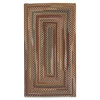 Capel Rugs Bangor Concentric Braided 5' x 8' Area Rug in Cinnamon