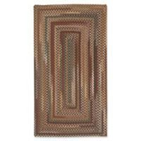 Capel Rugs Bangor Concentric Braided 7' x 9' Area Rug in Cinnamon
