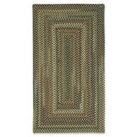Capel Rugs Bangor Concentric Braided 7' x 9' Area Rug in Charcoal