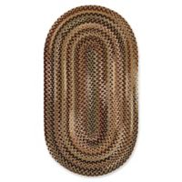 """Capel Rugs Bangor Oval Braided 20"""" x 30"""" Accent Rug in Brown/Beige"""