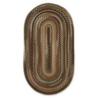 Capel Rugs Bangor Oval Braided 2' x 3' Accent Rug in Green