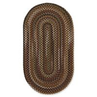 Capel Rugs Bangor Oval Braided 2' x 3' Accent Rug in Black