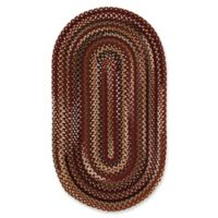 Capel Rugs Bangor Oval Braided 5' x 8' Area Rug in Red