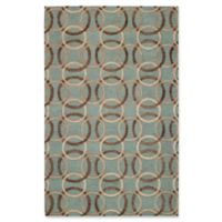 Capel Rugs Desert Plateau Ringlets Hand-Tufted 5' x 8' Rug in Green