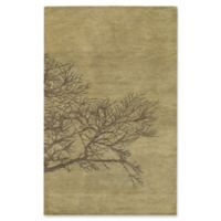 Capel Rugs Desert Plateau Shadow Branch Hand-Tufted 7' x 9' Rug in Green