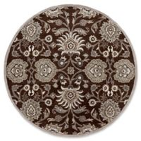 Surya Caesar 4' Round Hand Tufted Area Rug in Brown/Taupe