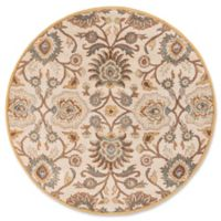 Surya Caesar 6' Round Hand Tufted Area Rug in Grey/Beige
