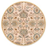 Surya Caesar 8' Round Hand Tufted Area Rug in Grey/Beige