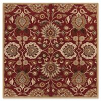 Surya Caesar 8' Square Hand Tufted Area Rug in Red/Cream