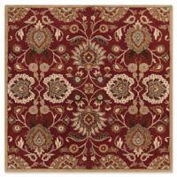 Surya Caesar 8' Square Hand Tufted Area Rug in Red/Cream